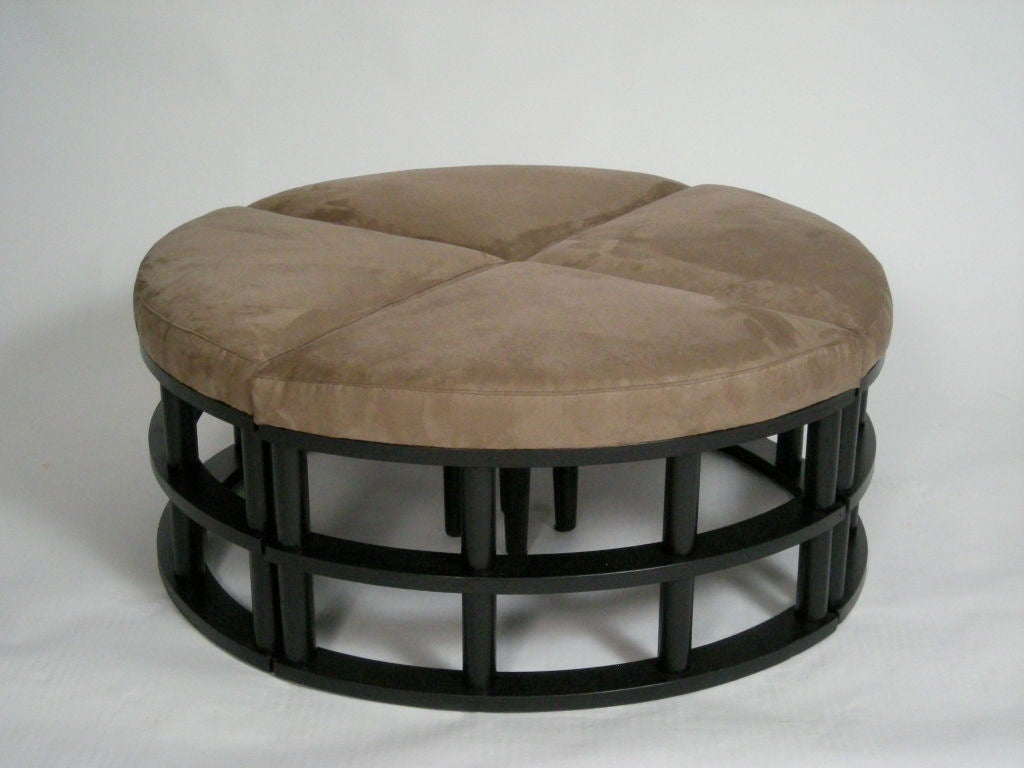 Upholstered Sectional Ottoman At 1stdibs
