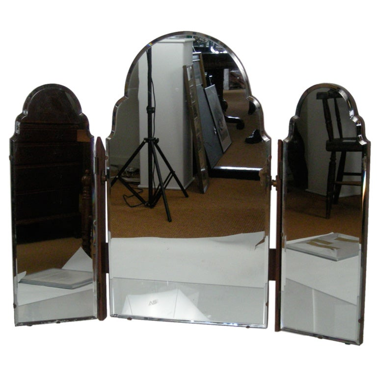 Glamorous Dressing Table 3 Part Folding Mirror At 1stdibs