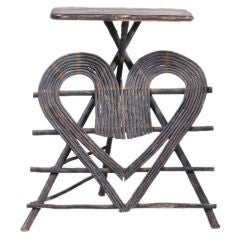 ADIRONDACK TWIG PLANT STAND OR OCCASIONAL TABLE