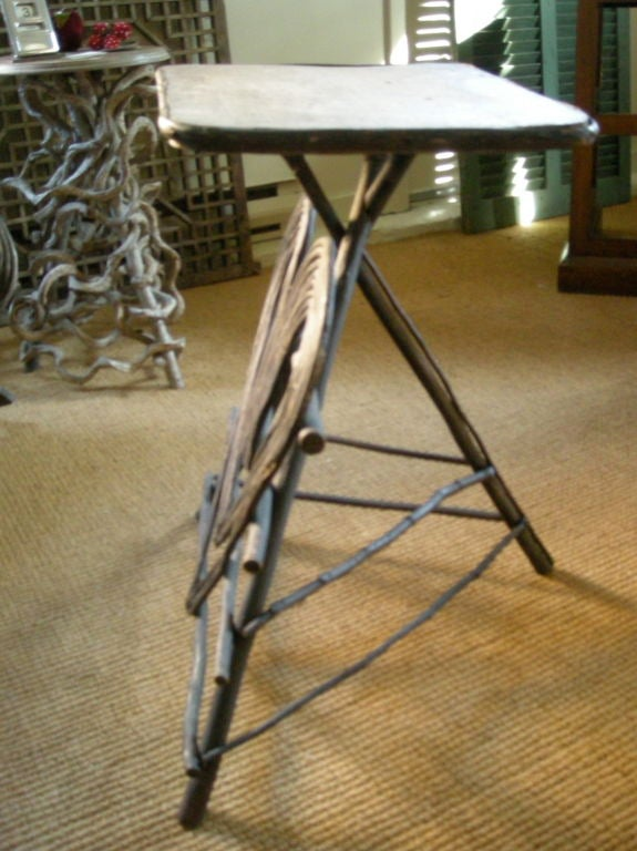 Adirondack Twig Plant Stand Or Occasional Table At 1stdibs