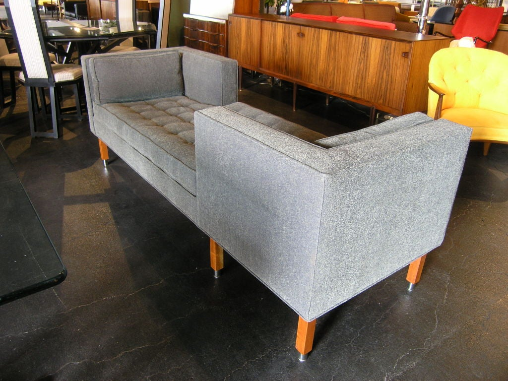 Tete a tete sofa in the style of edward wormley at 1stdibs - Tete a tete sofa ...