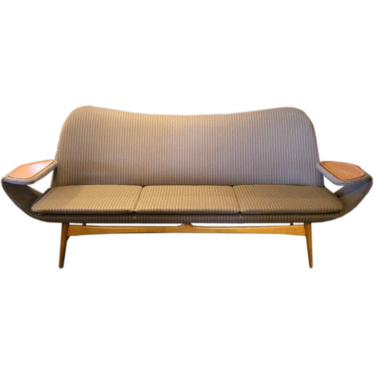 Fine mid 20th century swedish sofa at 1stdibs for Mid 20th century furniture