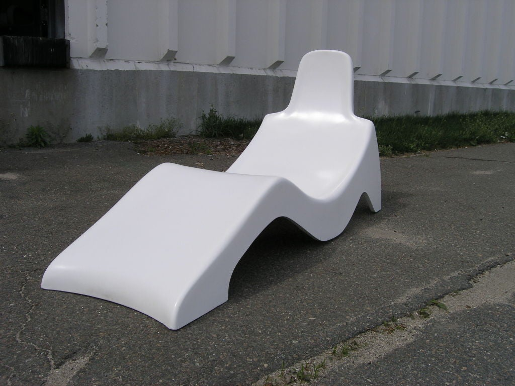 Molded Fiberglass Pool Lounge Chair For Sale at 1stdibs