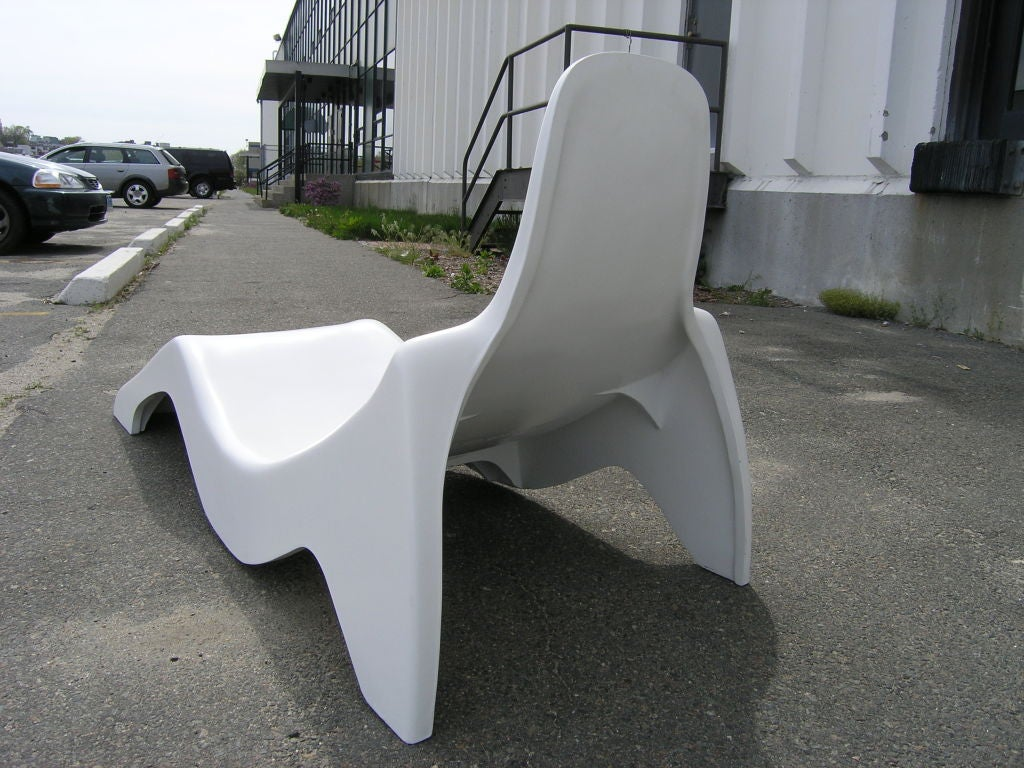Molded Fiberglass Pool Lounge Chair At 1stdibs