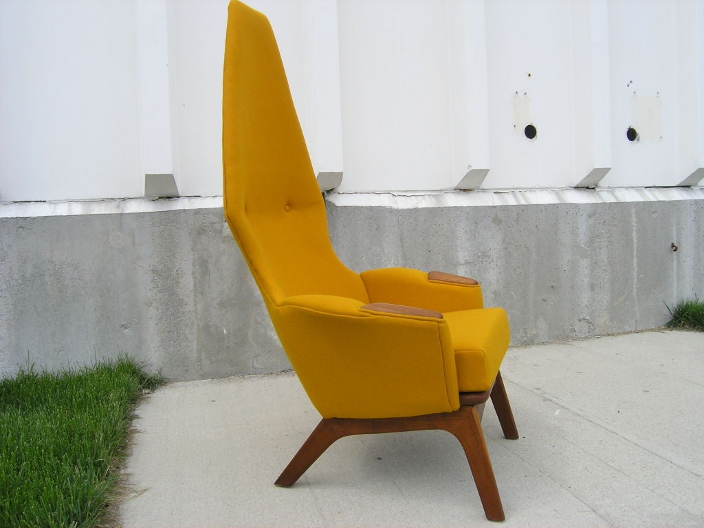 Mid-Century Modern High-Back Armchair, Model 2056-C, by Adrian Pearsall for Craft Associates For Sale