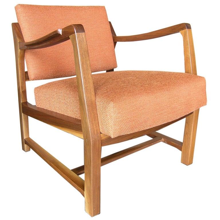 Pivot-Back Armchair by Edward Wormley for Dunbar