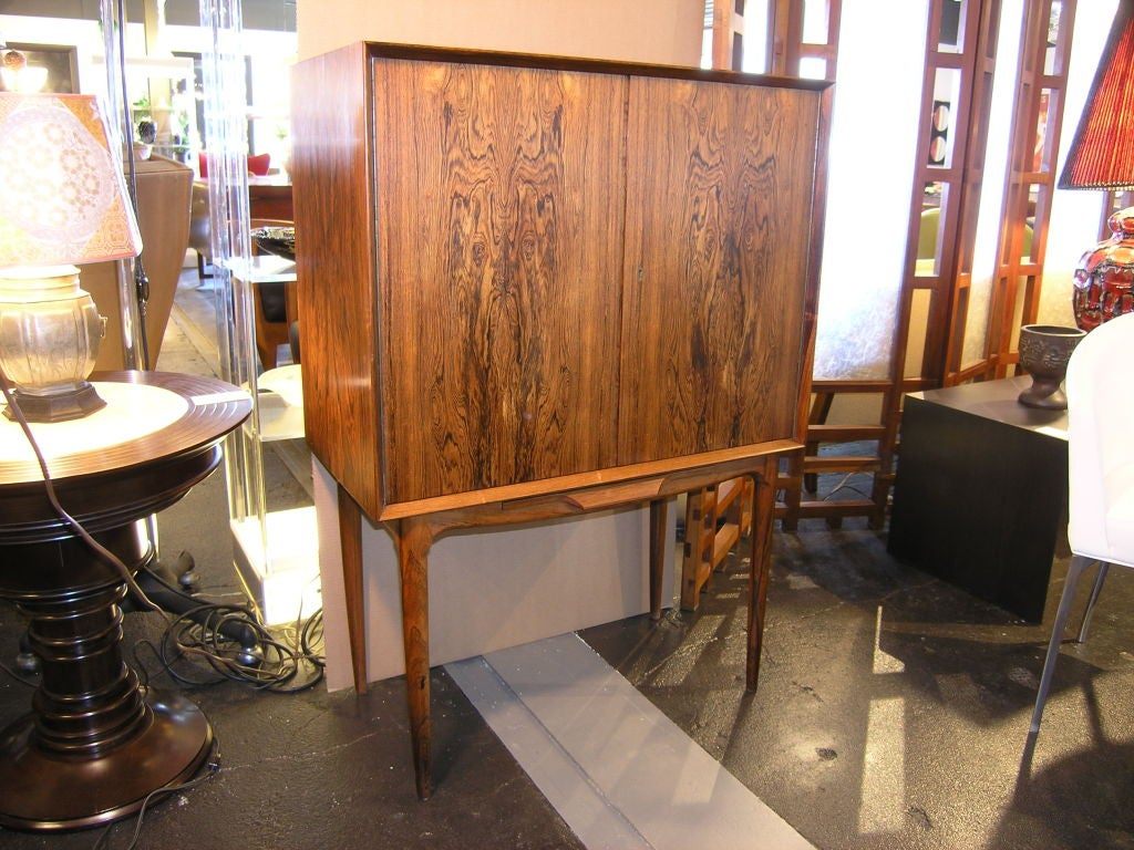 danish rosewood dry bar cabinet 2