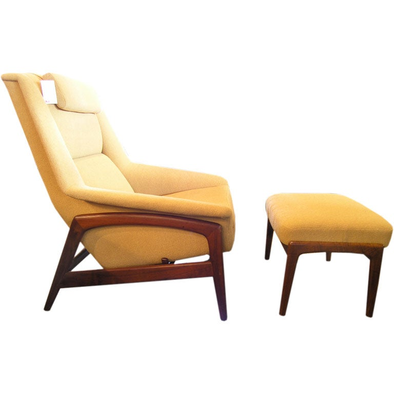 Reclining Chair And Ottoman By Dux At 1stdibs