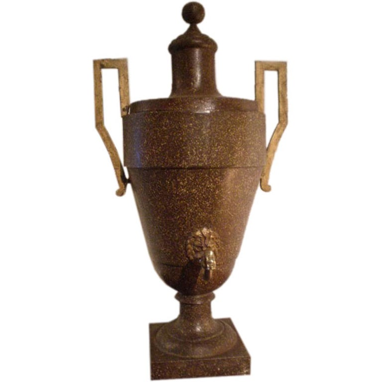 19th Century Continental Tole Urn For Sale
