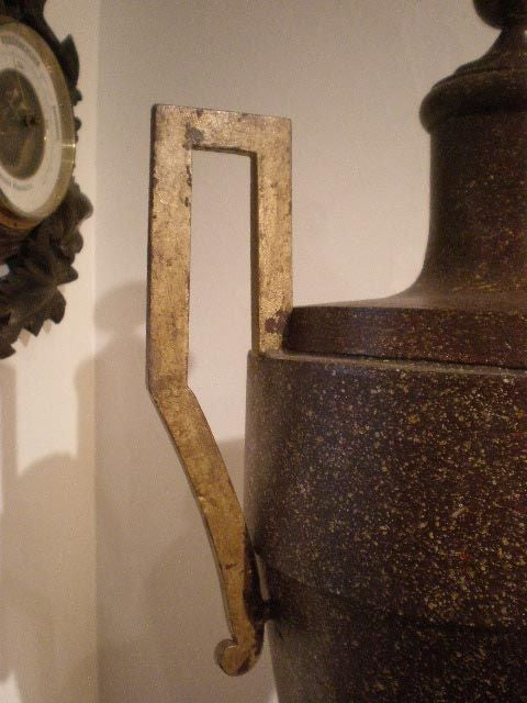 19th Century Continental Tole Urn In Good Condition For Sale In Boston, MA