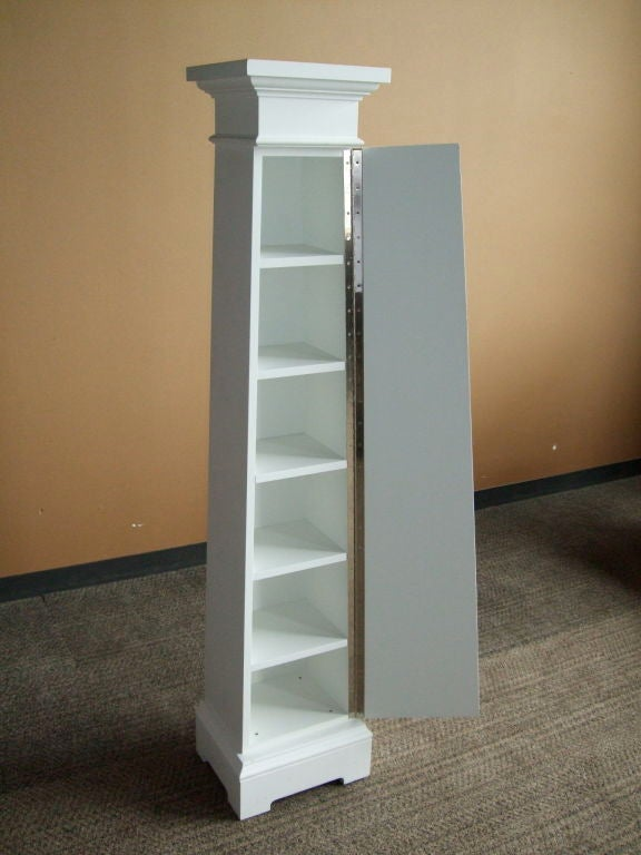 Custom Column Cupboard In Excellent Condition For Sale In Boston, MA