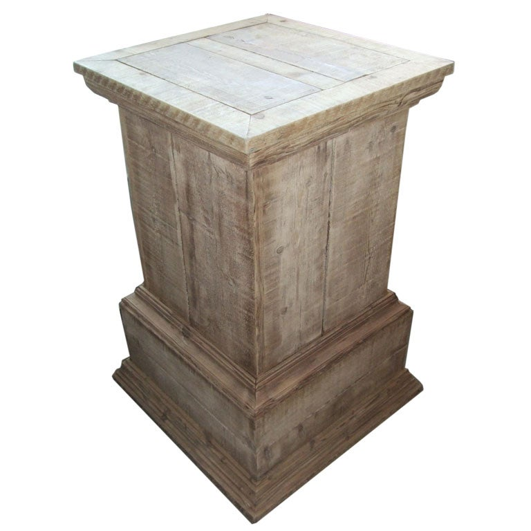 French Rustic Pine Pedestal At 1stdibs