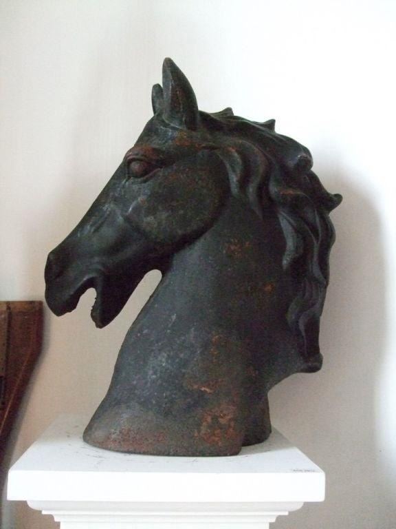 Cast iron horse head 2
