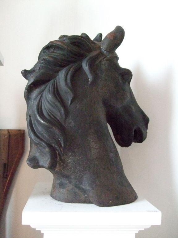 Iron Cast iron horse head