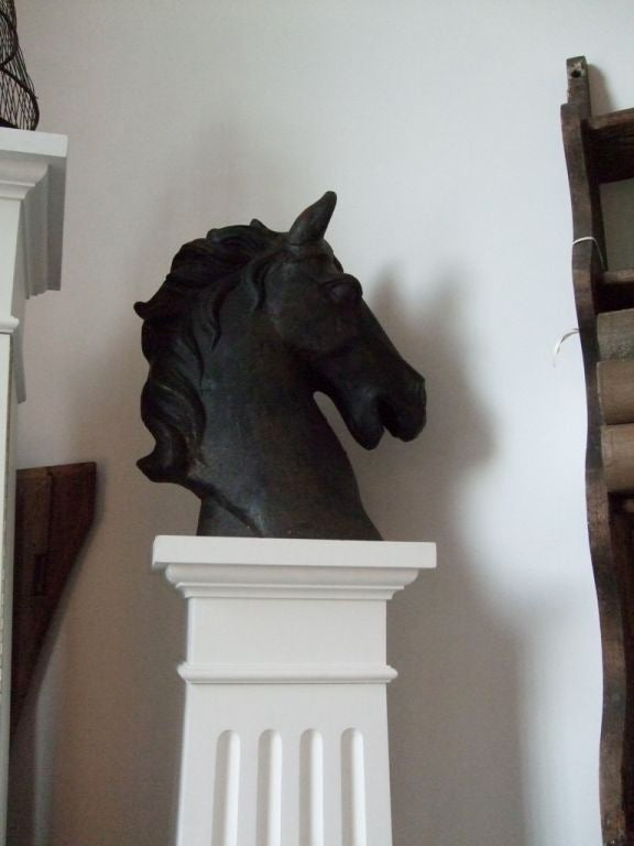 Cast iron horse head 3