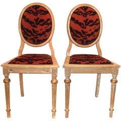 Pair of Oval Back Side Chairs