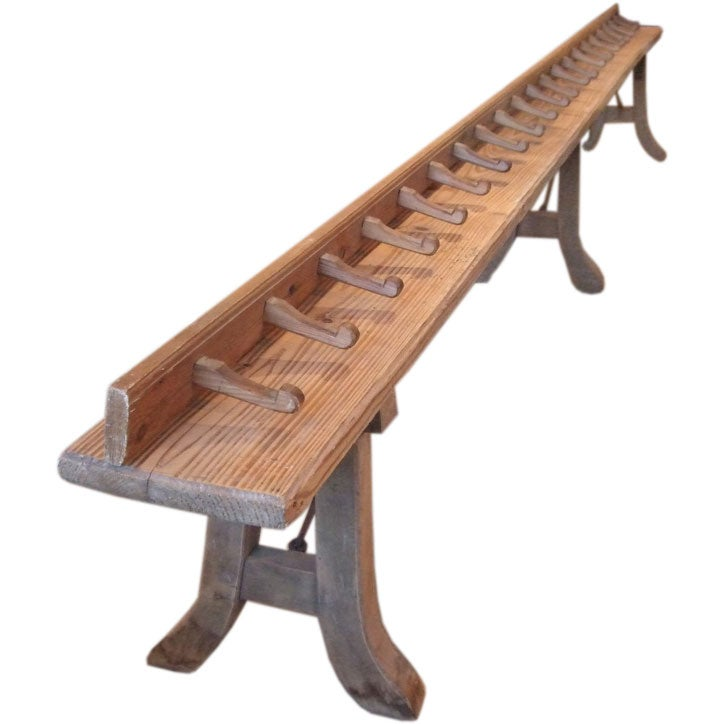 Long Pine Coat Rack And Bench At 1stdibs