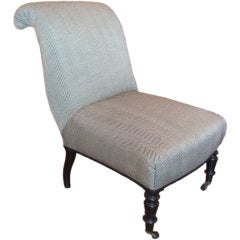 19th Century Napoleon III Slipper Chair
