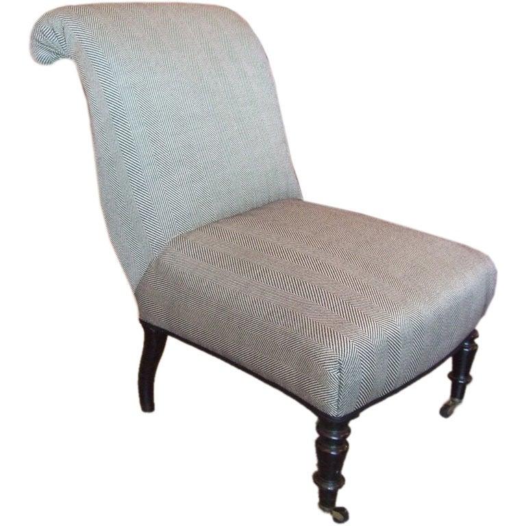 19th Century Napoleon III Slipper Chair