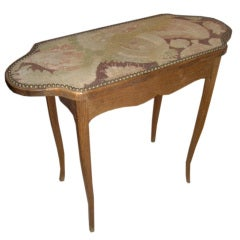 Unusual Needlepoint Top Table