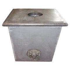 Zinc Planter with Ram's Head
