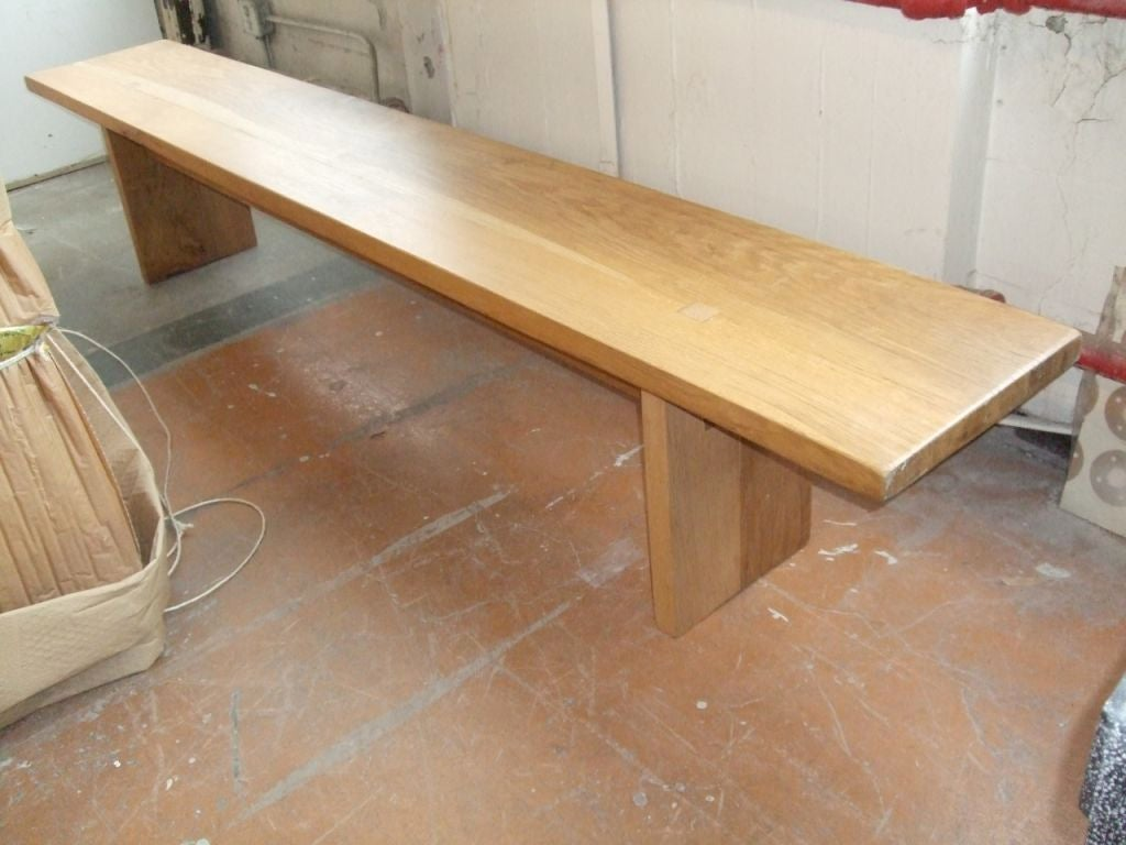 Recycled oak bench image 2
