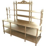 Grey Painted French Shelving Unit