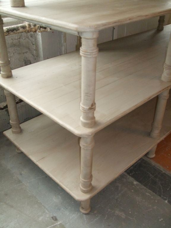Grey Painted French Shelving Unit For Sale 1