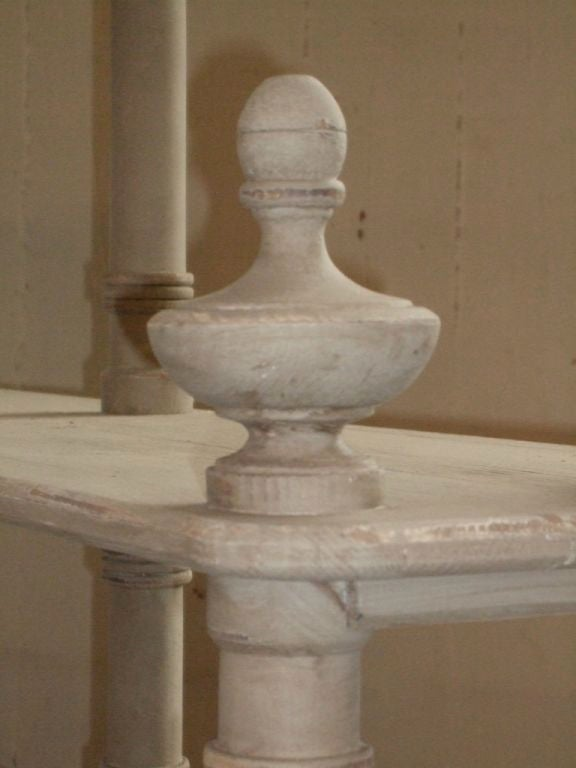 Grey Painted French Shelving Unit For Sale 3