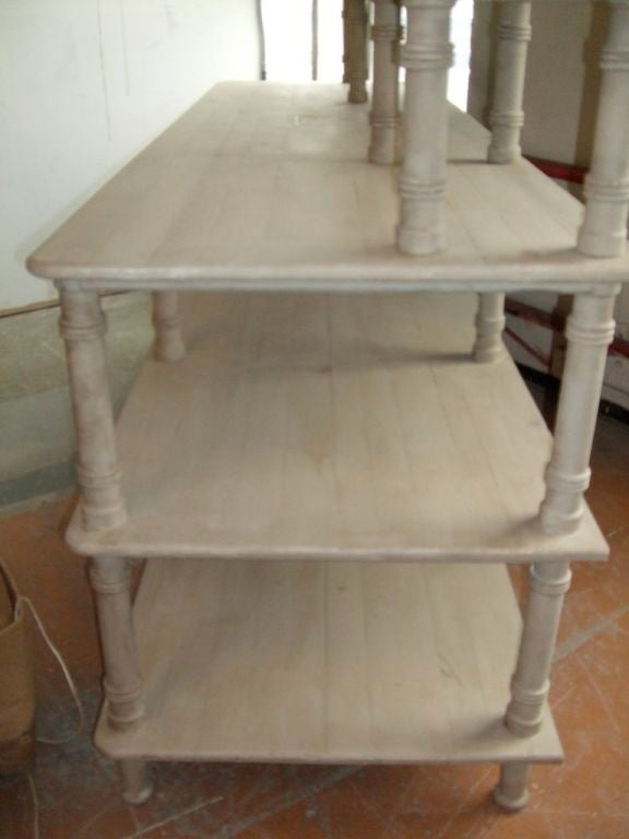 Grey Painted French Shelving Unit For Sale 2