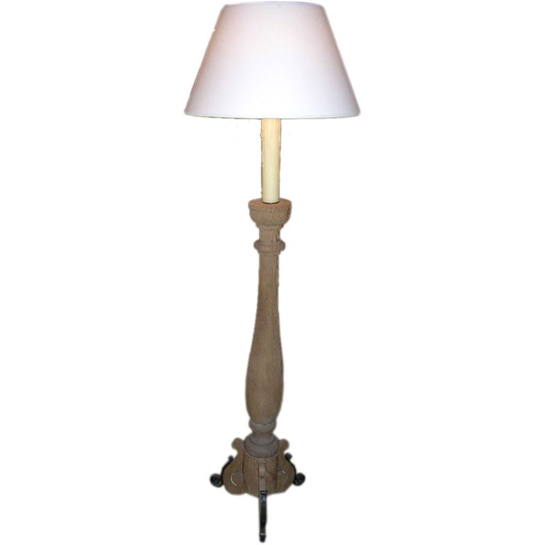 wooden torchiere floor lamp for sale at 1stdibs With wooden floor lamp for sale
