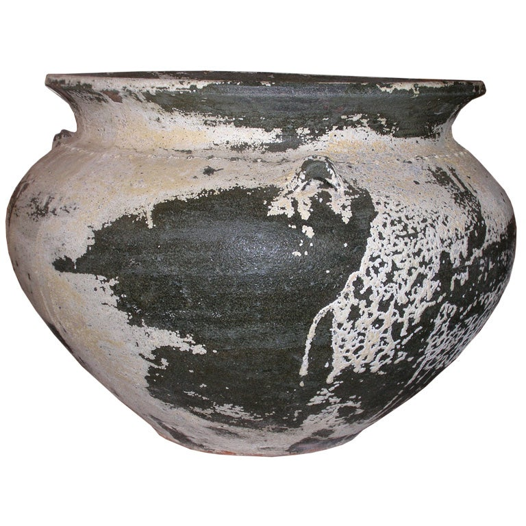 Materials Distressed And Glazed: Distressed Clay Pot At 1stdibs