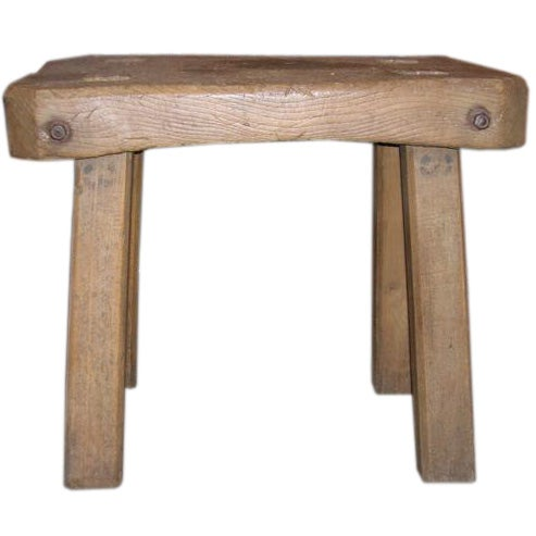 rustic butcher block side table at 1stdibs