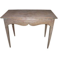 18th Century Swedish Table with Carved Apron