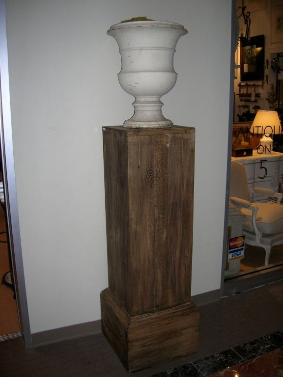 Pair of Tall Rustic Wooden Pedestals For Sale 3