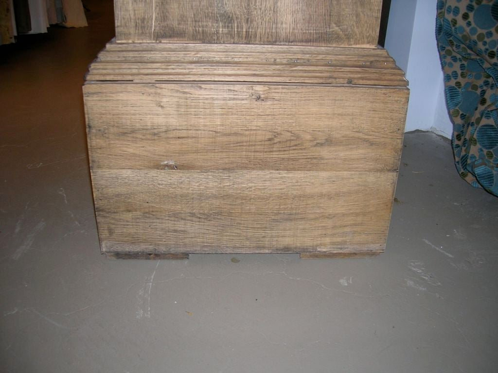 Pair of Tall Rustic Wooden Pedestals For Sale 2