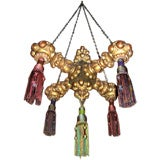 19th Century Giltwood Chandelier with Tassels