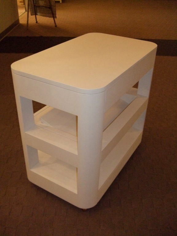Custom Bedside Book Table In Excellent Condition For Sale In Boston, MA