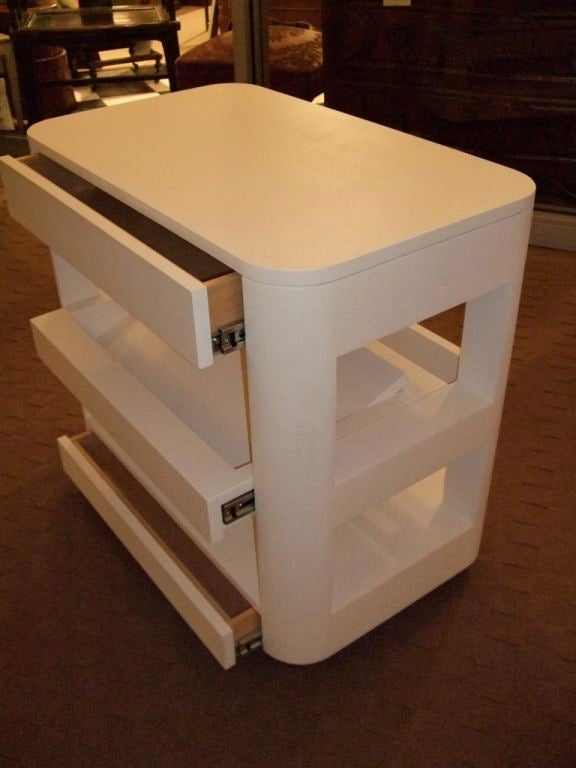 Contemporary Custom Bedside Book Table For Sale