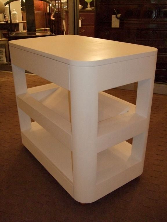 American Custom Bedside Book Table For Sale