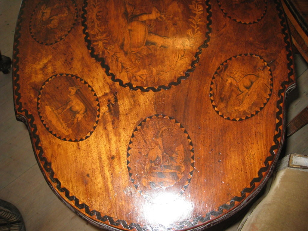 19th Century Black Forest Walnut and Marquetry Tilt-Top Table For Sale