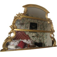 Louis XV Style Giltwood Over-Mantle Mirror