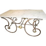 French Brass and Iron Bakers Table