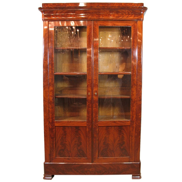 Louis Philippe Mahogany Bibliotheque For Sale