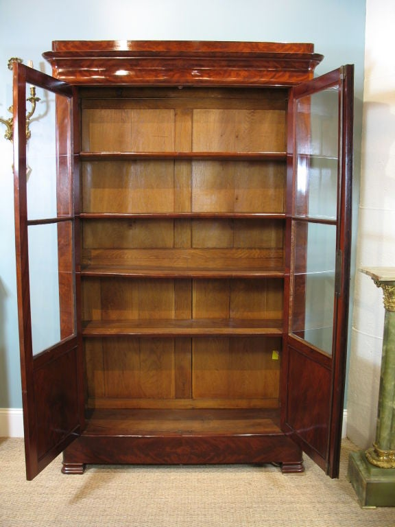French Louis Philippe Mahogany Bibliotheque For Sale