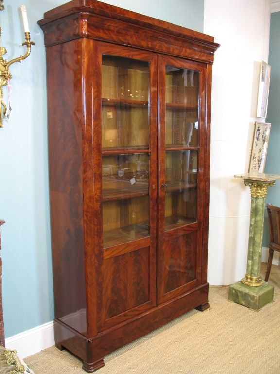 Oak Louis Philippe Mahogany Bibliotheque For Sale