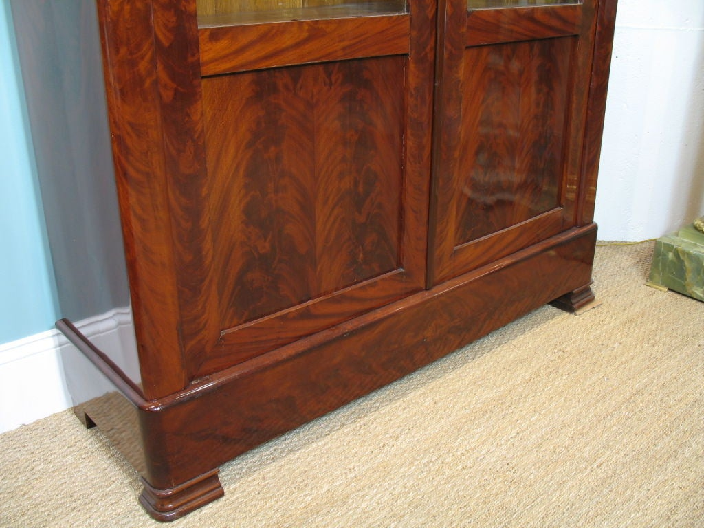Louis Philippe Mahogany Bibliotheque For Sale 3