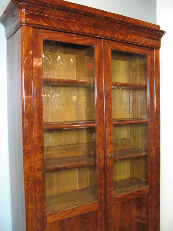 Louis Philippe Mahogany Bibliotheque For Sale 4