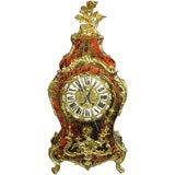 French Tortoiseshell Boulle Clock