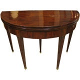 French Directoire Demi-Lune Card Table